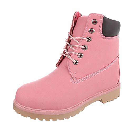 Ital-Design - Stivali Desert Boots Uomo Rosa 6301W-1
