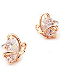 Lily Jewelry - Pendientes para mujer, diseño mariposa, cristales de Swarovski Elements