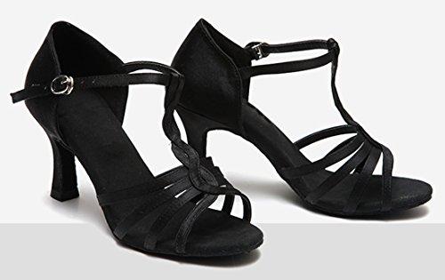 TDA , Peep-Toe femme 7.5cm Black