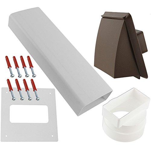 Spares2go esterna da parete camino vent kit per ariston ventilato asciugatrici (marrone)