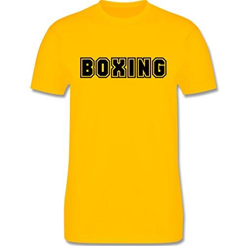 Kampfsport - Boxing Schriftzug - Herren Premium T-Shirt Gelb