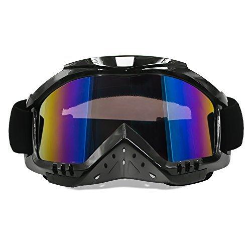 Dmeixs Dirt Bike Brille mit Nase, Motocross Goggle Grip für Helm, UV-Schutzbrille für ATV Off Road Racing mit coolen Look hearwear (Mädchen Schmutz Bike-helme)