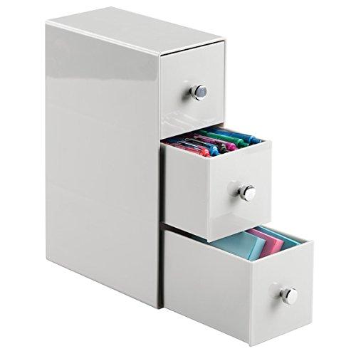mDesign Schreibtisch Organizer – Aufbewahrungsbox für Büro und Kinderzimmer – für...