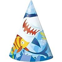 Cappellini per feste, confezione da 8, motivo: squalo