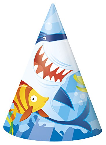 Shark Partyhüte, 8 Stück (Supplies Party Shark)