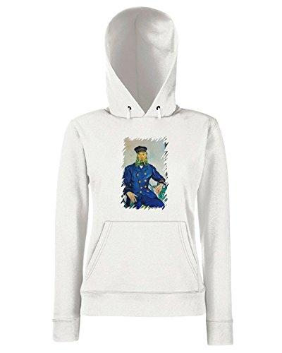 T-Shirtshock - Sweats a capuche Femme TDA0085 van gogh213 ritratto del procaccia joseph roulin Blanc