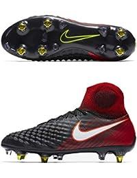 Nike Magista Obra Suelo Blando Adulto 45.5 Bota de fútbol - Botas de fútbol (Suelo Blando, Adulto, Masculino, Negro, Rojo,…