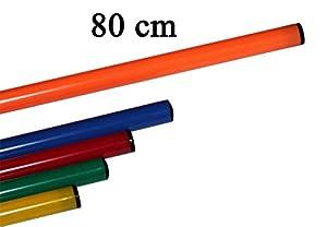 agility sport pour chiens - lot de 10 jalons, longueur 80 cm, Ø 25 mm, orange - 10x 80o