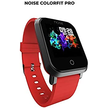 Noise ColorFit Pro Fitness Watch/Smart Watch/Activity Tracker/Fitness Band with Colored Display Waterproof,Heart Rate Sensor, Call & Notification Alert with Camera and Music Control Features (Red)