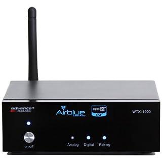 Advance Acoustic WTX 1000blk Kabelloser Empfänger, Bluetooth, schwarz