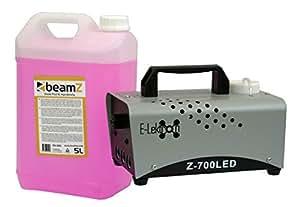 E-Lektron Z-700LED 600W Nebelmaschine Blue-Flame DJ Party Smokemachine inkl. 5L Nebelfluid