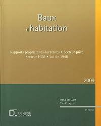 Baux d'habitation : Rapports propriétaires-locataires, secteur privé, secteur HLM, loi de 1948 (1Cédérom)