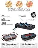 Privat: Sportstech Profi Vibrationsplatte VP300 mit 3D Wipp Vibrations Technologie, 2x1000W max Motoren Leistung + Bluetooth Musik, Riesige Fläche, einmaliges Design + Trainingsbänder + Fernbedienung + Poster - 3