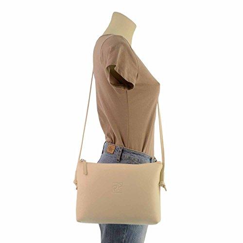 sac à bandoulière en cuir zippée derrière HIELO