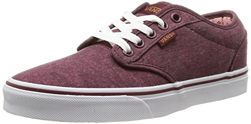 Vans W Atwood, Women's Low-Top Sneakers, Red (washed Canvas/windsor Wine), 3 UK...