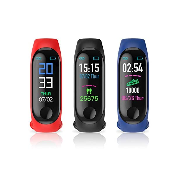 GULEHAY M3 Smart Fitness Tracker, Reloj de Actividad Impermeable con Pantalla a Color Monitor de Ritmo cardíaco Presión… 5