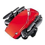 Beautytop Elicottero RC Quadcopter Pocket Drone-Radio Telecomando Aerei pieghevoli (Rosso)