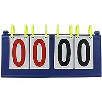 Zeagro 1 x segnapunti Portatile da Tavolo, Facile da Aprire per Interni ed Esterni, Strumento Professionale per Allenatori e arbitri per Sport