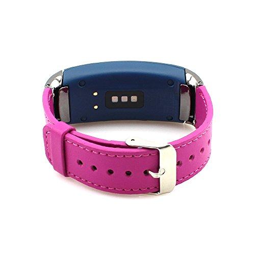 Gear Fit2 Uhrenarmband Pinhen Fit 2 Leder Ersatzband Armband für Samsung Gear Fit 2 SM-R360 Smartwatch