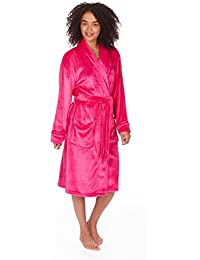 LADIES SUPERSOFT WOODLAND PRINT DRESSING GOWN  ROBE WRAP  SIZES S M L