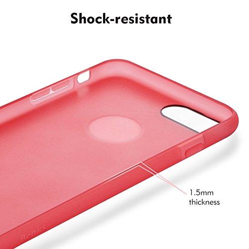 Wkae Benks Skin Serie TPU Ultra-dünner Schock-beständiger Schutzhülle für iPhone 7 Plus ( Color : White ) Green