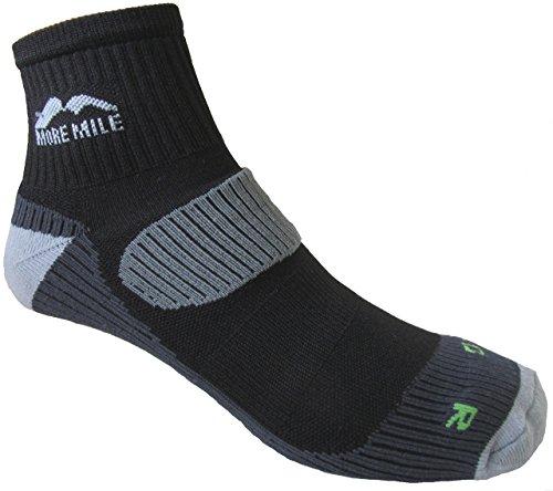 More Mile Mens London Cushioned Running Socks (1 Black 1 White)