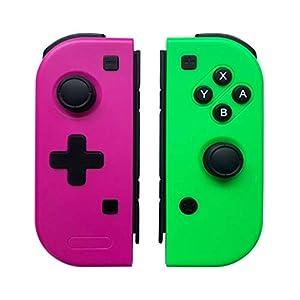 Wireless Controller für Nintendo Switch, WeJoy 2er-Set Kabelloser Pro Gamepads für Nintendo Switch-Rose Rot (L) & Grün (R) (Produkte von Drittanbietern)