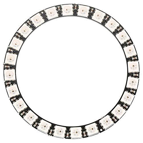 Ring Light, Akozon Ring Flash 24-Bit WS2812 5050 LED Light RGB Lampada ad Anello con Driver Integrati