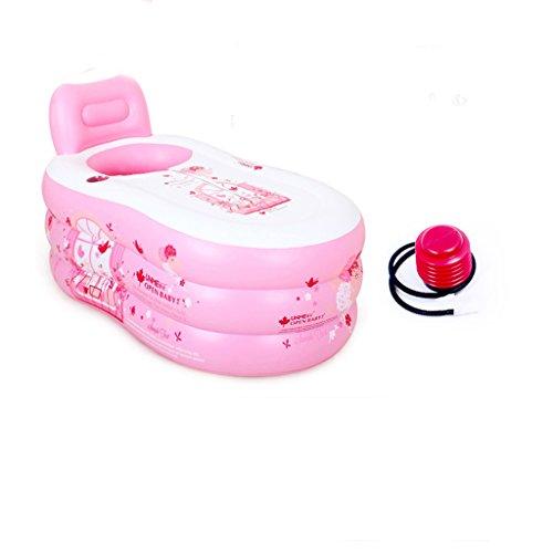 Falt-pool (AJZGF Falt-Badewanne Badewanne für Erwachsene Badewanne für Erwachsene Gepolsterte Baby-Badewanne Badewanne für Kinder pink Badewanne ( Farbe : Electric pump ))