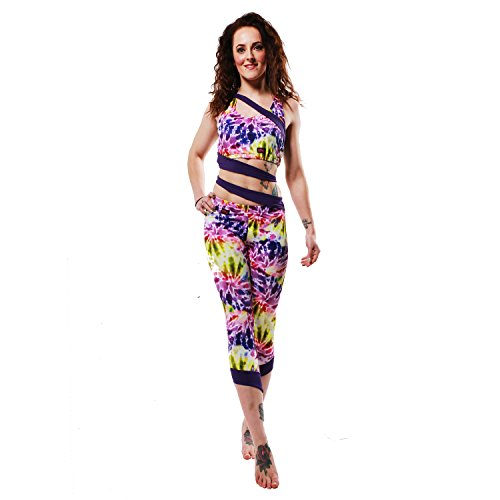 Wink - Leggings sportivi -  donna Spiral Tie Dye/Purple Small