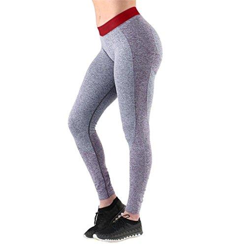 Donne Sport Palestra Yoga Allenamento A Vita Alta In Esecuzione Pantaloni Elastico Leggings Fitness Leggings Attivi Leggings Di Fitness A Vita Alta Pantaloni Morwind Rosso
