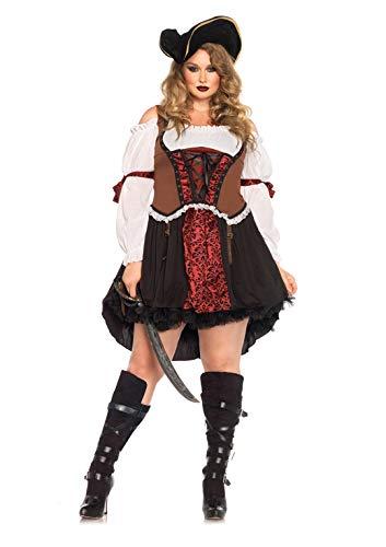 Leg Avenue 85371X - Ruthless Piraten-Mädchen-Damen kostüm, Größe 3X-4X (EUR - Übergröße Fantasy Kostüm