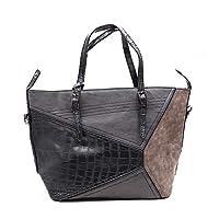 NoBasic Shoulder Bag for Women-Grey/Multi
