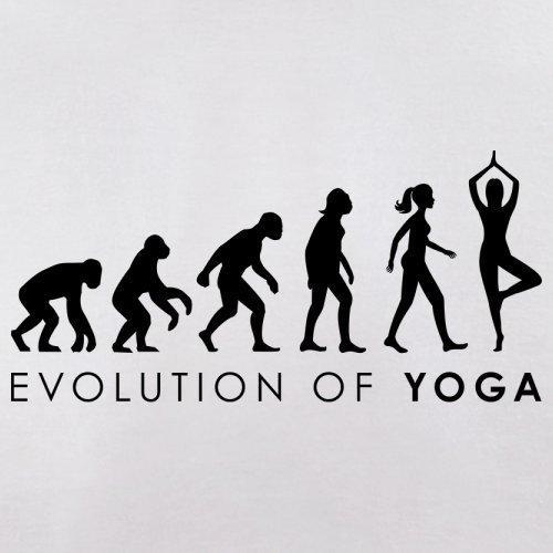 Evolution of Woman - Yoga - Herren T-Shirt - 13 Farben Weiß