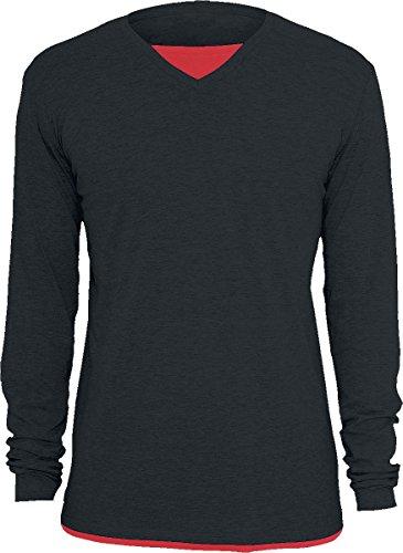 Black Premium by EMP Point Blank Longsleeve schwarz/rot XXL (Blank Rot Herren T-shirt)