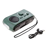 Sharplace Emergency Radios Solar Hand Crank AM/FM/SW Weather Radio???3 LED Flashlight and Reading Lamp, Cellphone Charger