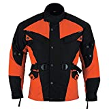 German Wear Textil Motorradjacke Kombigeeignet, 52/L, Orange
