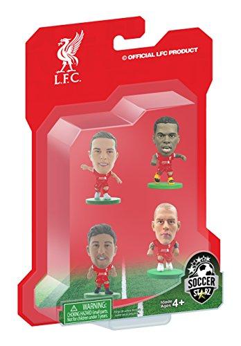 SoccerStarz  Liverpool 4 Player Blister Pack featuring Sturridge Lallana Henderson and Skrtel Home Kit  Red White