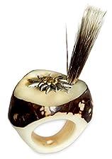 niki-orange Gams Beard Ring Made of Real Horn Bavarian Costume