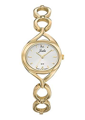 Joalia H630M565 - Orologio da donna con cinturino dorato, quadrante bianco
