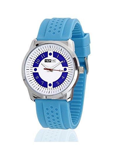 Yepme Men's Numitech Unisex Watch - White/Orange -YPMWATCH0464 image
