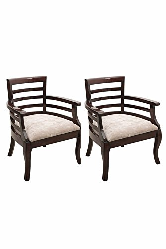 Solid Teak wood Bed Room Chair Pair