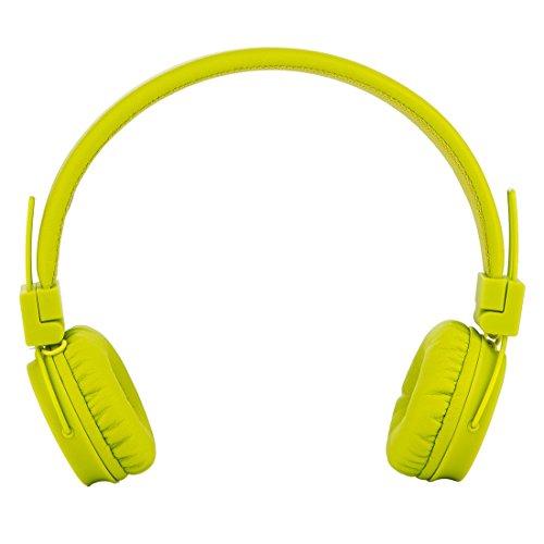 Termichy Wired Kinder Kopfhörer Faltbarer On-Ear Hifi Stereo Headset mit Inline-Control Abnehmbare 3,5mm Klinkenstecker Audio Kabel (Green) - 3