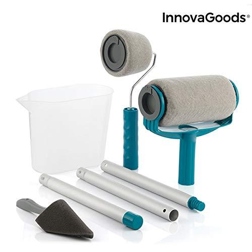 InnovaGoods IG814793 Set de Rodillos de Pintura Recargables Antigoteo Roll'n'Paint 5 Piezas