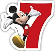 PROCOS 1 Candle No.7 PLAYFUL MICKEY NUMERAL CANDLES 83155