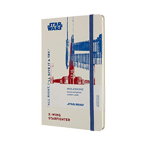 Moleskine Limited Edition Star Wars Notebook, Large, Ruled, X-Wing (5 X 8.25)
