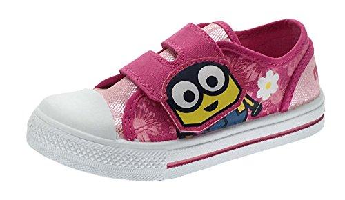 Mädchen Bob Minions Canvas Klettverschluss Pumpen Sneaker Kids Schuhe Größe UK 6