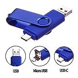 Cle USB 64 Go Type C Micro USB et USB 2.0 OTG 3 en 1 Pivotant Mémoire Stick Flash...