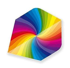 Unicorn Rainbow Swirl Metallic Dart Flight