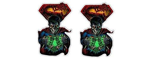 Superzombie Monster Held Superman Zombie Aufkleber Sticker + Gratis Schlüsselringanhänger Kokosnuss-Schale + Auto Motorrad Laptop Notebook Koffer Snowboard Skateboard BMX (Monster Snowboard Aufkleber)